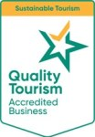 Badge showing that this business is a Quality Tourism Accredited Business for Sustainable Tourism