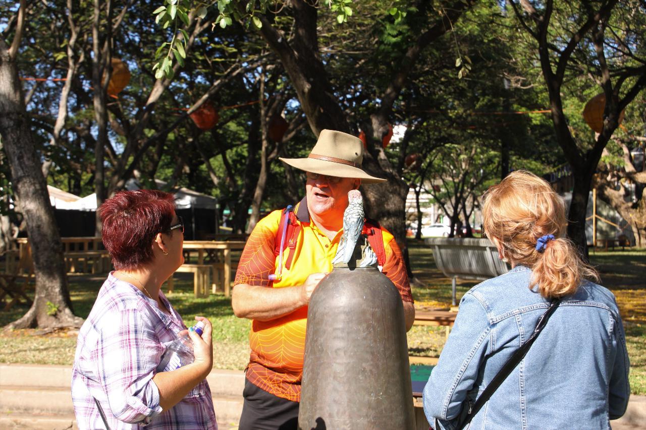 John Hart from Walk Darwin on the Heritage Walk